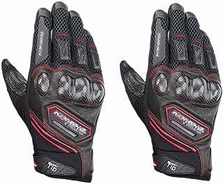 HAOSHUAI Outdoor Sports Volledige Vinger Bescherming Motorfiets Handschoenen, Meerdere kleuren Ridding handschoenen (Kleur : Groen, Maat : M)