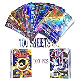 WOO - 100 Piezas Pokemon Cartas,Tarjetas de Pokemon,Pokemon Trading Cards,Cartas Pokémon Game Battle Card(100 - GX)