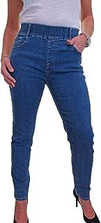 icecoolfashion Jeans Jeggings Stile Denim Elasticizzato da Donna A Vita Alta 42-54