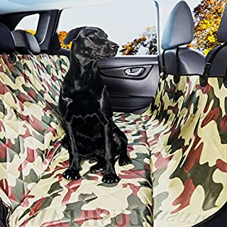 Plush Paws Pet Seat Cover Seat Anchors Waterproof Side Flaps Hammock Non Slip Silicone Backing Bonus Pair of Best Harness & Seat Belt for Full Size Trucks, SUV's Vehicles, X-Large
