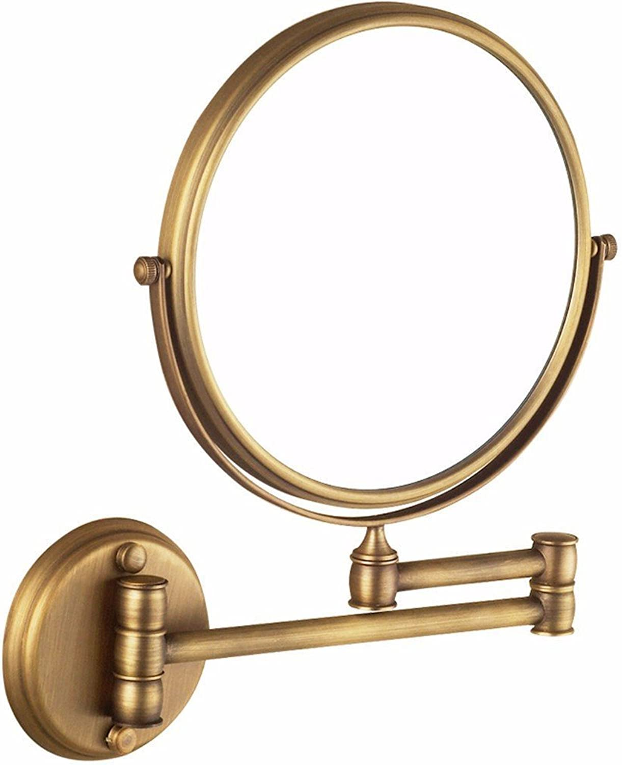 Antique mirror brass bathroom wall mounted redating mirror folding mirror bathroom scale on both sides of the mirror-8 inch Antique mirror