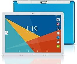 Tablet 10 Pulgadas, Fire HD 10.1 Tablets PC( Android 8.1, 3G, WiFi, Octa Core, 4 GB de RAM, 64 GB de ROM, GPS, Dual SIM Card, 1080P ), Azul