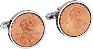 Copper 2013 US Cufflinks - Mint 2013 Cent Coins - Perfect 6th Wedding Anniversary
