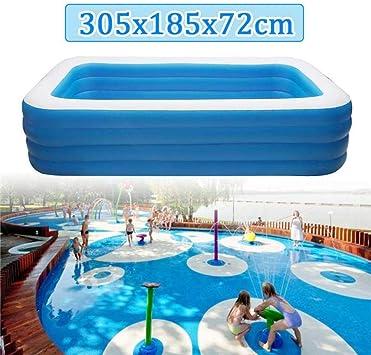 Lixiff Children S Inflatable Swimming Pool 305 X 185 X 72 Cm Children S Home Use Paddling Pool Large Size Inflatable Square Swimming Pool Heat Preservation Amazon De Garden