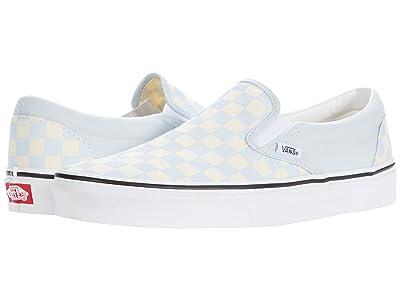 Vans Classic Slip-On ((Checkerboard) Ballad Blue/True White) Skate Shoes