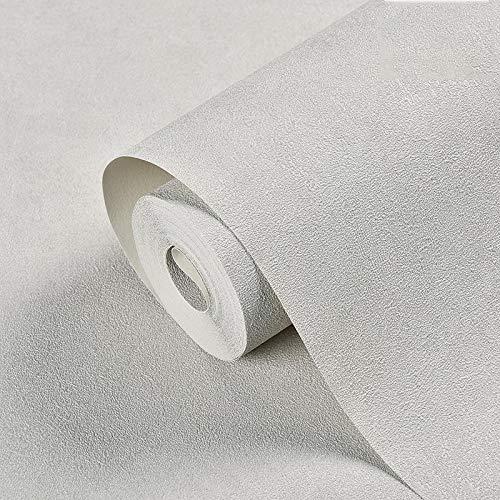 SDCER Papel Pintado Simple PVC Impermeable Liso Nórdico Adhesivos de Pared Sala de Estar Dormitorio Tienda de Ropa Gris Claro 53X950cm(20.8X374inches)