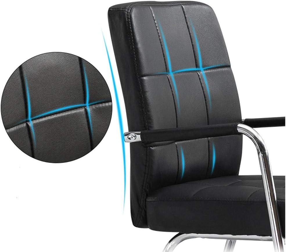 WERCHW Chaise de Bureau pivotante, Chaise Chaise de Bureau réglable en Faux Cuir Ordinateur avec accoudoirs et chaises de Jeu en Lumbar Brown