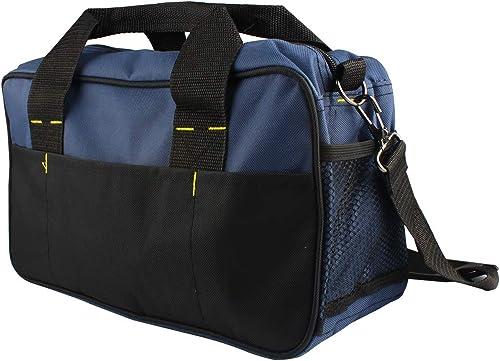 Larcele 13.7 Inch Tool Storage Bag, Oxford Fabric Electrician Shoulder Bag Handbag, Multifunctional Tool Organizer WJSNB-09