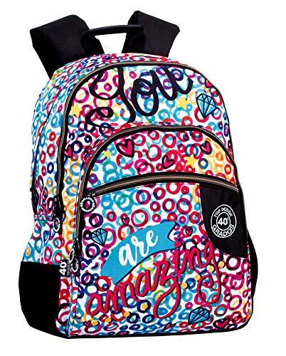 Montichelvo Montichelvo Double Backpack A.O. CG Amazing Bolsa Escolar, 30 cm, Multicolor (Multicolour)