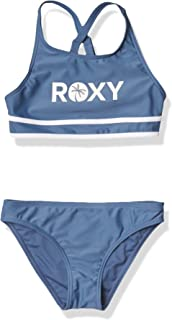 Roxy Girls' Perfect Surf Time Crop Top Two Piece Swimsuit