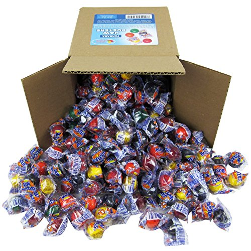 Jawbusters Jawbreakers Candy Bulk - Jaw Busters Jaw Breakers Individually Wrapped - Medium Size, Party Box 6x6x6 Family Size, Bulk Candy 3.2 lbs