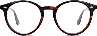 Classic Round Blue Light Blocking Glasses Computer Clear...