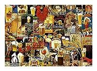 ジグソーパズルビールポスター300/500/1000ピース大人向けパズル-レトロパズルルームデコレーションクリエイティブギフト知育玩具モダンアートポスター (Size : 300pieces)