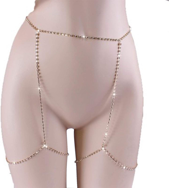 LQG Waist Chain Body Sexy Philadelphia Mall for Cash special price Women Rhinestone