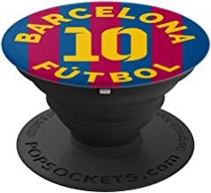 PopSockets: Barcelona Football Soccer Fan Futbol - Number 10 - PopSockets Grip and Stand for Phones and Tablets