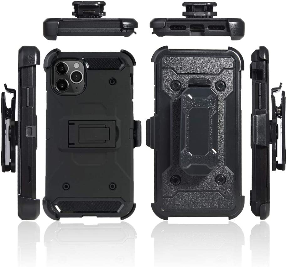 Cocomii Military Belt Clip Holster iPhone 11 Pro Max Case, Slim Thin Matte Kickstand Swivel Belt Clip Holster Drop Protection Bumper Cover Compatible with Apple iPhone 11 Pro Max 6.5