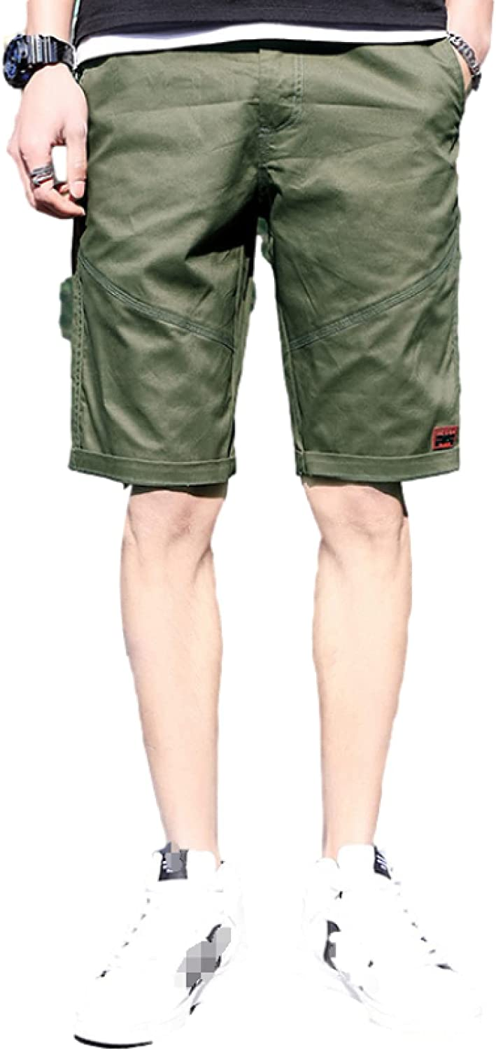 Katenyl Men's Thin Breathable Straight Shorts Trend Stitching Fashion Relaxed