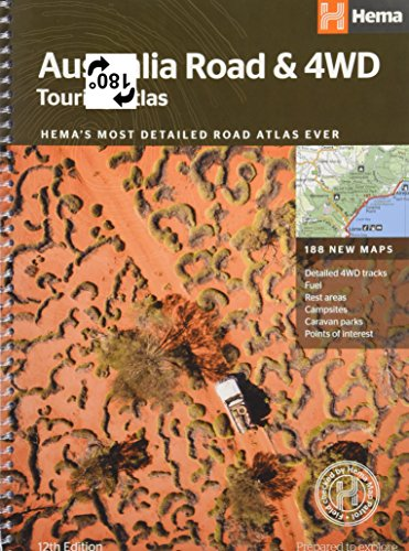 Australia  Road & 4WD Touring Atlas: HEMAs most detailed road atlas ever with 188 new maps