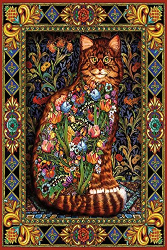 HCYL Tapestry Cat 1000 Pieces Wood Jigsaw Puzzle,Perfect Choice for The Puzzle Lover