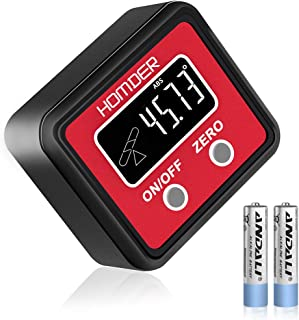 Homder Digital Angle Gauge Level Box Protractor Angle Finder Inclinometer with Magnetic..