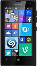 Microsoft Lumia 435 8GB Unlocked GSM Windows 8 Smartphone - Black (International version, No Warranty)