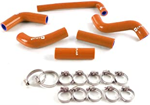 Silicone Coolant Radiator Hose Kit For KTM 400/525EXC 02-06 Dark Orange