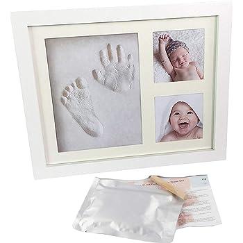 Artemio Kit Moldeo de huella de beb/é y marco de fotos blanco 12.5 x 12.5 x 1.2 cm madera