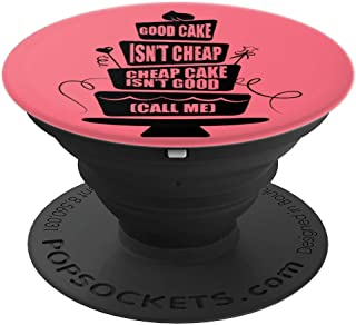 Funny Cake Baker Decorator Cupcake Baking Pink PopSockets Grip and Stand for Phones and Tablets