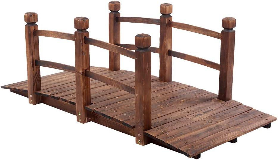 DTEK Classic Arch Bridge Small Outdoor discount Courtyard Wooden Anticorro