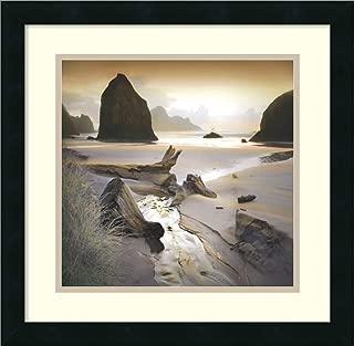Framed Wall Art Print She Sleeps in The Sand by William Vanscoy 18.25 x 18.25