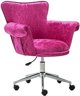 YF-Chair Silla de Escritorio Silla de Oficina Silla de Oficina para tareas tapizada en Terciopelo para Escritorio de Oficina en casa Silla de Escritorio giratoria ergonómica con Respaldo Medio