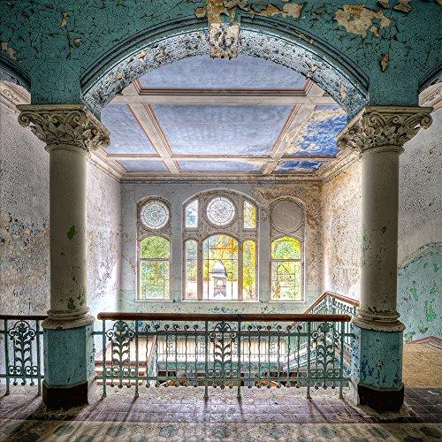 artissimo, Glasbild, 30x30cm, AG4061A, Lost Places II, Urbex, Bild aus Glas, Moderne Wanddekoration aus Glas, Wandbild Wohnzimmer modern