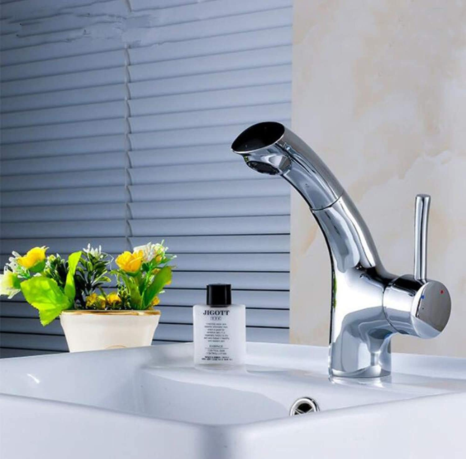 Bathroom Sink Tap Countertop Basin Pull Head Faucet Telescopic Multi - Functional Hot and Cold Water Faucet