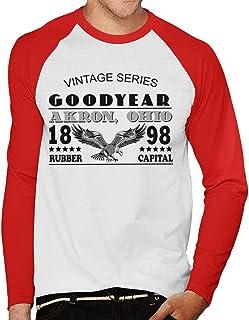 Goodyear Vintage-serien långärmad baseball t-shirt för män