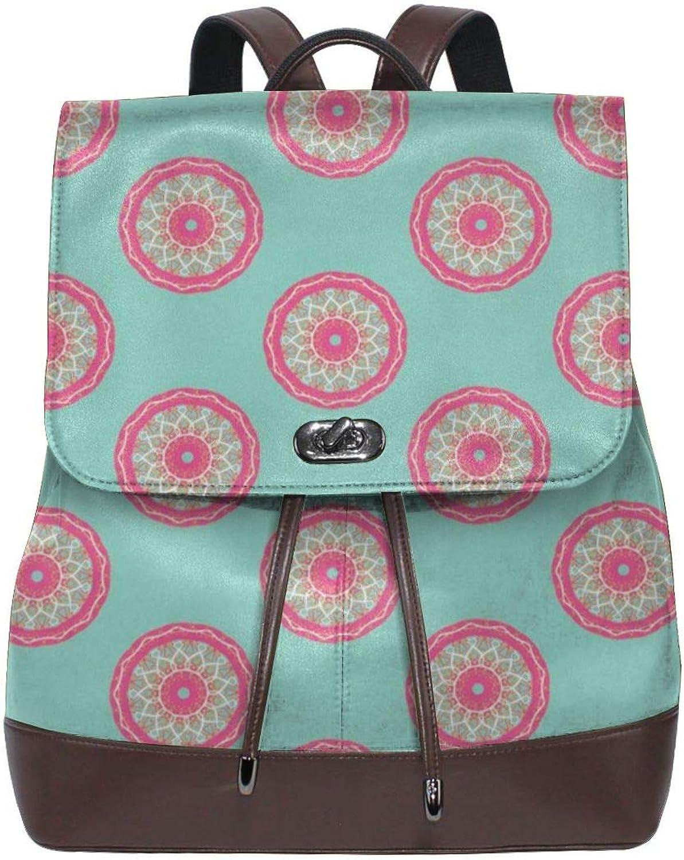 Fashion Leather Backpack Circle Fancy Aqua Purse Waterproof Anti Rucksack PU Leather Bags