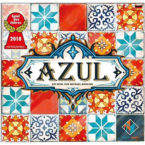 Partido Estrategia Juegos de Mesa Azul Color de los Azulejos de cerámica (Portugal vitral) - Juego de Interior Juguetes Gadget, Regalos para la Familia Amigos Hombres Mujeres Niños, 2 a 4 Jugadores