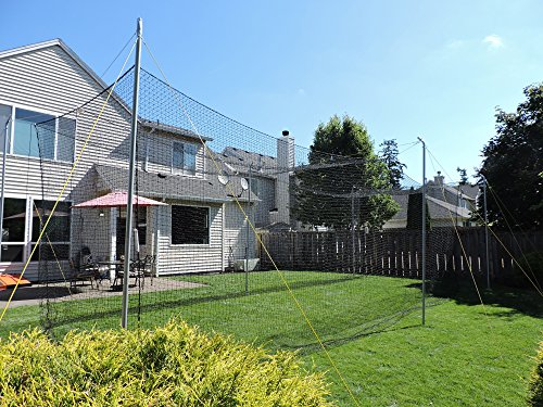 Jugs Hit at Home Backyard Batting Cage — Compact 45' x 11' x 11' Size is Perfect for backyards, or Small Hitting Area. Includes net, Frame and Everything Needed to Set up.