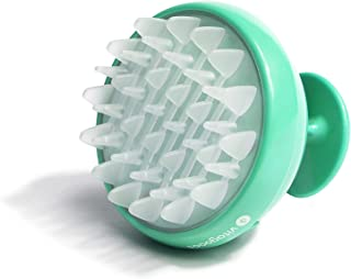Vitagoods Scalp Massaging Shampoo Brush - Handheld Vibrating Massager, Water-Resistant Device - Lucite Green