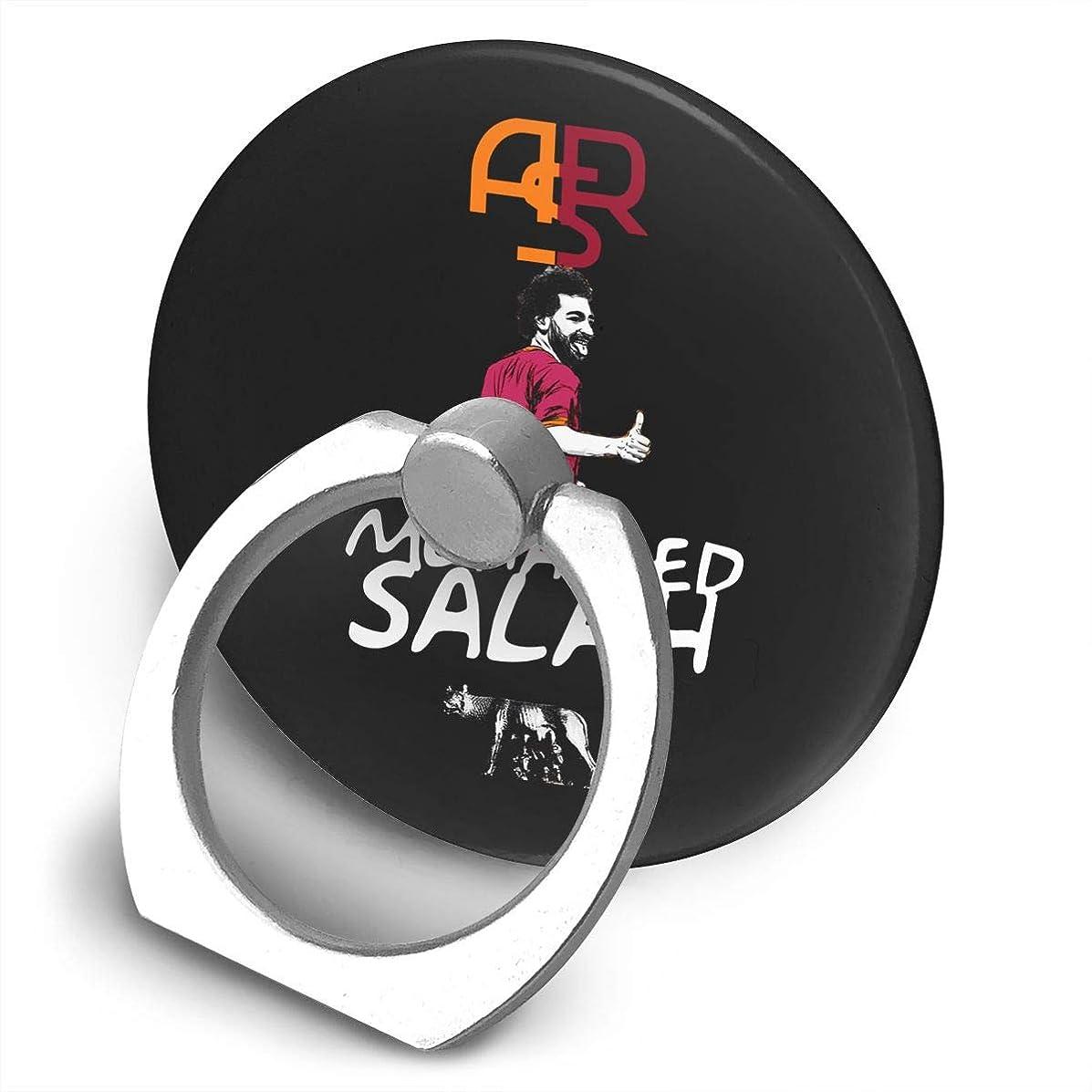 コーナールー突っ込むサッカー選手 モハメド サラー プリント スマホリング ホールド リング 丸型 指輪リング 薄型 おしゃれ 落下防止 360° ホルダー 強吸着力 IPhone/Android各種他対応