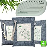 Bamboo Charcoal Air Purifying Bag - 3x220, 75 Gram - Refrigerator Deodorizer Fridge Freezer - Activated Charcoal Odor Absorber Remover Eliminator for Home Car Closet - Nature Fresh Air Purifier Bags