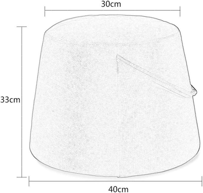 XiuHUa - Tabouret moderne - Tabouret moderne - Tabouret rond - Tabouret à chaussures - 30 x 33 x 40 cm - Plusieurs couleurs au choix (couleur : G) D