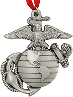 Indiana Metal Craft Marine Corps EGA Pewter Sculpted Ornament. Made in U.S.A.