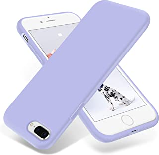 OTOFLY iPhone 8 Plus Case,iPhone 7 Plus Case,[Silky and Soft Touch Series] Premium Soft Silicone Rubber Full-Body Protective Bumper Case Compatible with iPhone 7/8 Plus (Light Purple)
