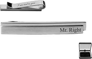 Personalized Silver Tie Clip Engraved Free