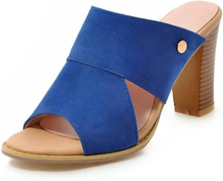 Houfeoans Women High Heel Sandals Fashion Open Toe Heeled Summer shoes Women Slip On Slippers shoes