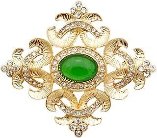 Verde Color Abalorios Cruz Broches Para Mujeres Diseño Barroco Moda Accesorios De La Boda Abrigo Joyas Pins Nuevo Regalo