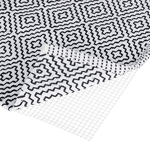 Relaxdays 1 x Antirutschmatte für Teppich, zuschneidbare Rutschmatte, Teppichunterlage, Rutschschutz, BxT: 120x180 cm, weiß