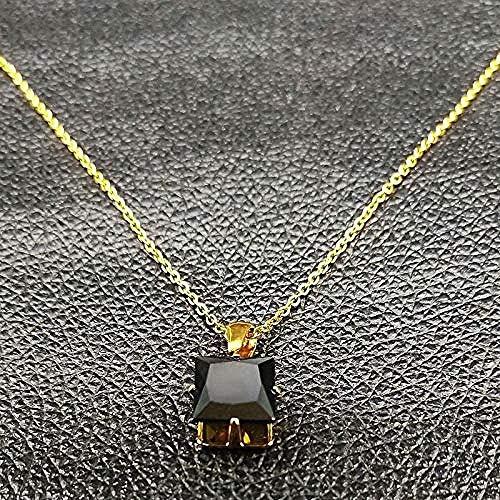 WYDSFWL Collar de Cadena de Acero Inoxidable de Calavera gótica para Hombres/Mujeres, Collar de Esmalte Negro, joyería, Collar de Regalo, Regalo