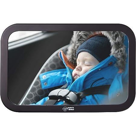 Fluffy S World Spiegel Auto Baby Autospiegel Baby Bruchsicherer Rückspiegel Baby Babyspiegel Auto Rücksitzspiegel Baby Xxl Groß Baby