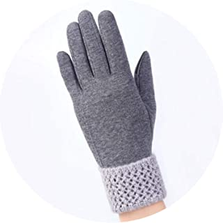 Women Fashionable Touched Screen Gloves Lace Bowknot Female Winter Warm Gloves